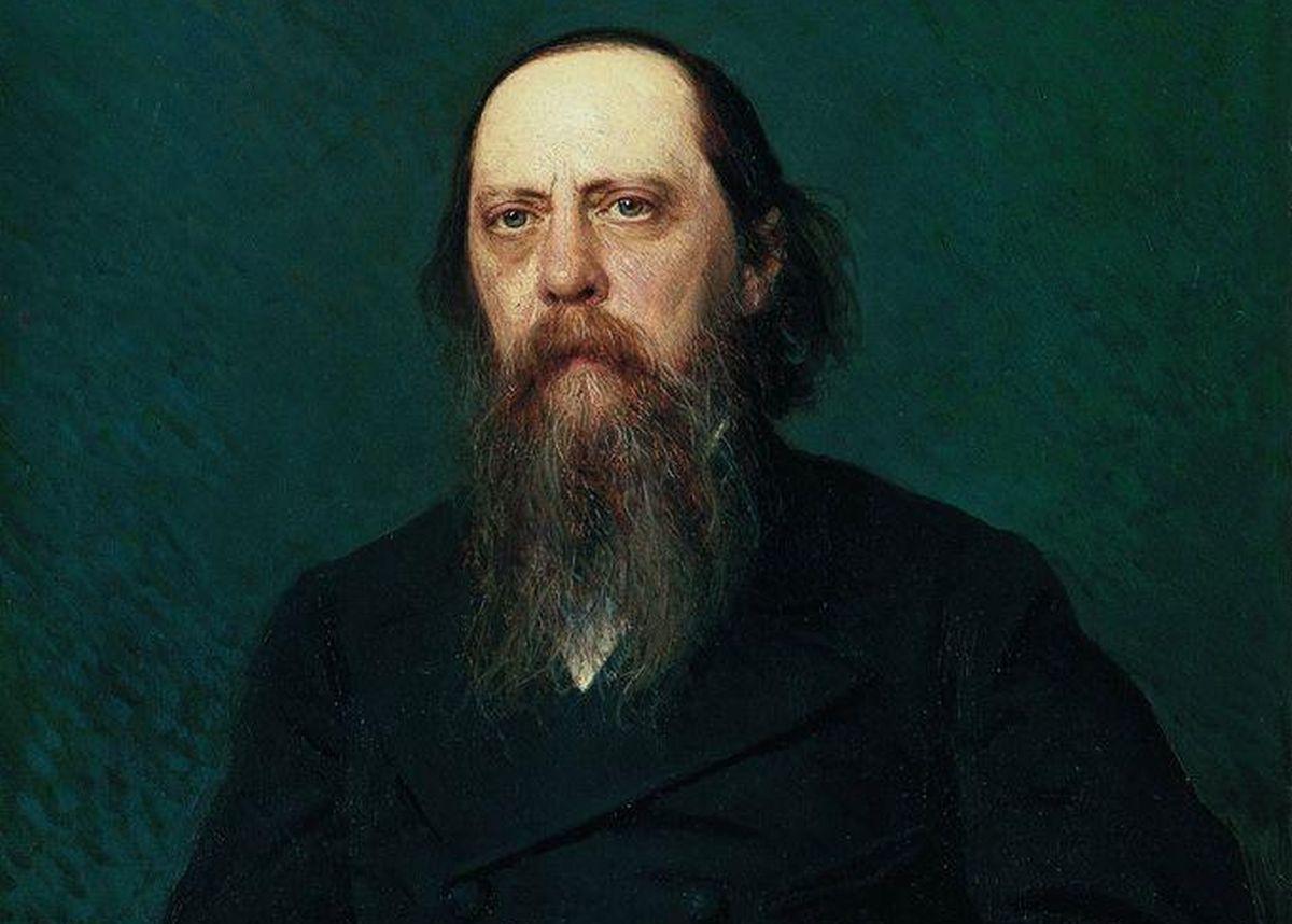 Портрет писателя Михаила Евграфовича Салтыкова (Н. Щедрина)