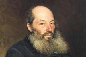 Портрет Фета работы И. Е. Репина (1882)