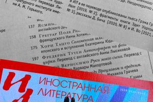 5-й выпуск Иностранной литературы за 2021 год