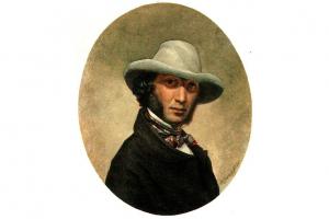 Предполагаемый портрет Пушкина в 1831 году